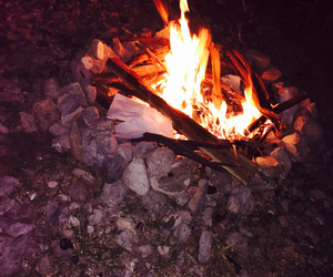 beautiful, vacations, and campfire image