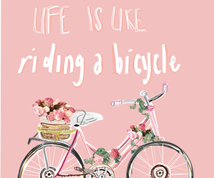 quotes, life, and bicycle image