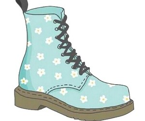 overlay, flowers, and boots image