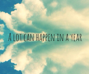year, quote, and clouds image