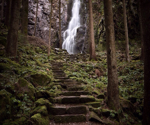Steps to the falls...