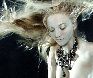 underwater, fashion, and model image