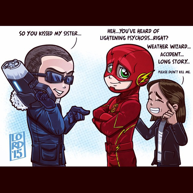 Lordmesa Art The Flash Barry Allen Captain Cold Wentworth Miller