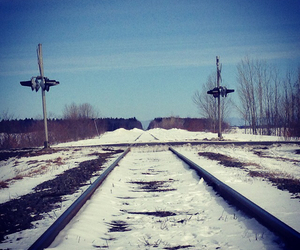 hiver, landscape, and locomotive image