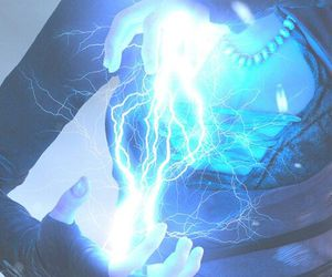 power, blue, and electricity image
