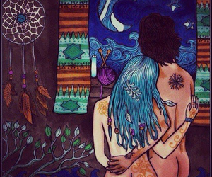 amor, hippies, and natural image