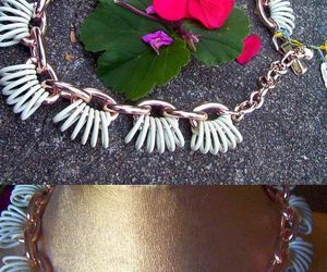 necklace, pretty as, and white enamel image