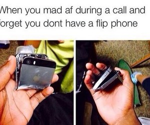 funny, iphone, and flip phone image