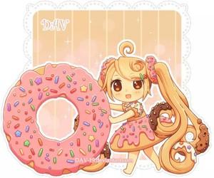 anime, donuts, and kawaii image