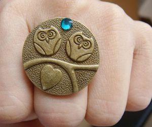 bijoux, hearts, and owl image