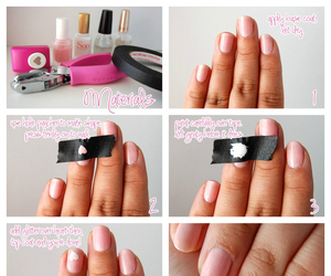 nails, heart, and diy image