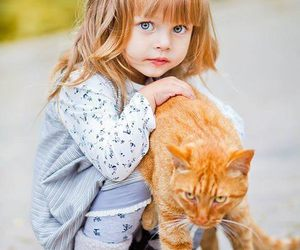 baby, kids, and cat image