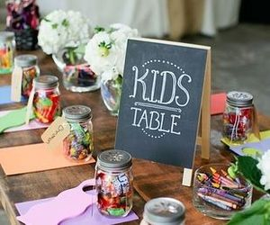 wedding, kids, and table image