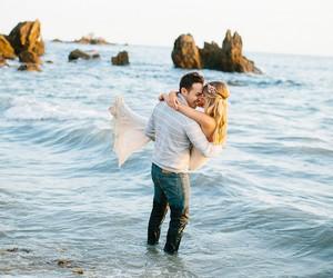 couple, kiss, and nature image