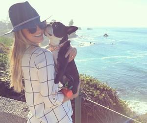 blonde, dog, and girl image