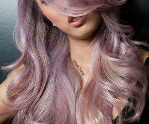pastel hair and lavender hair image
