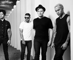 pete wentz, andy hurley, and fall out boy image