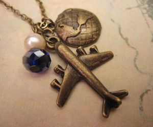 airplane, bijoux, and pearl image