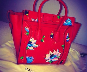 celine, red, and bag image