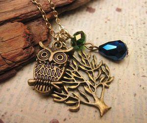 owl, tree, and bijoux image