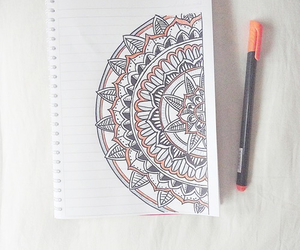 drawing and mandala image