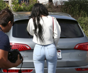 booty, jeans, and wedgie image
