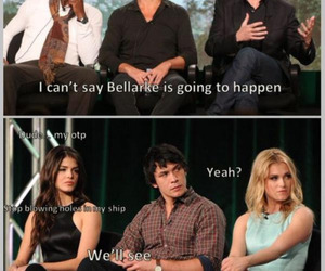 bellarke, the 100, and bob morley image