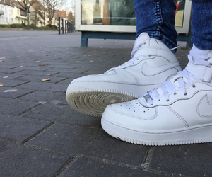 shoes, airforce, and white image