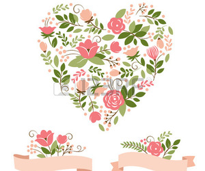 flowers, note, and vector image