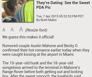 kissing, news, and becky g. image