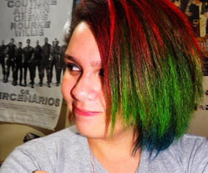 colored hair, colors, and dye hair image