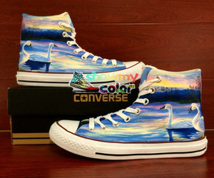 custom shoes, all star sneakers, and hand painted shoes image