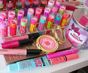 makeup, baby lips, and pink image