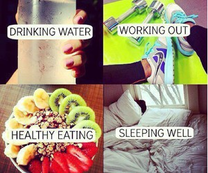 healthy, water, and fitness image