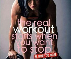 workout, fitness, and facts image