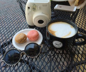 coffee, camera, and sunglasses image