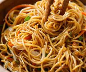 food, noodles, and pasta image