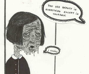 beauty, sad, and ugly image