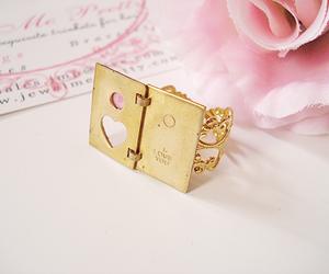 ring, pastel, and pink image