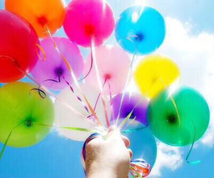 balloon, beautiful, and colorful image