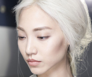 model, asian, and white image