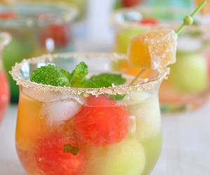 drink, fruit, and sweet image