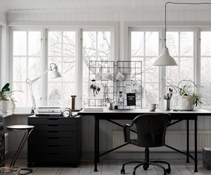 black, white, and workspace image