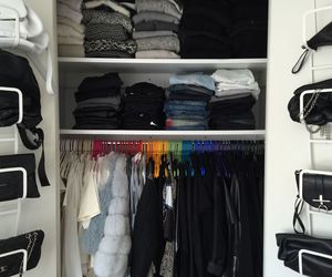 bags, closet, and clean image