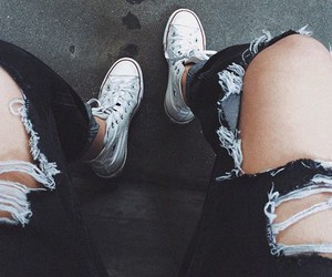 converse, fashion, and black image