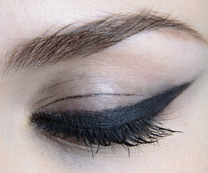 black, eyeliner, and makeup image
