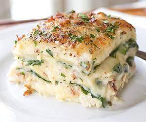 food, lasagna, and delicious image