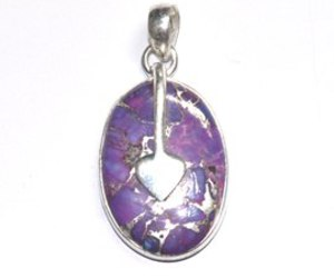 silver pendent and silver gemstone pendent image