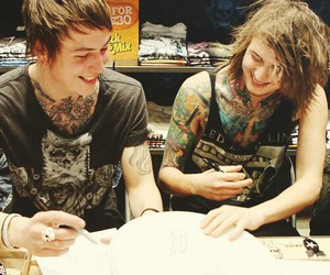 asking alexandria, ben bruce, and tattoo image