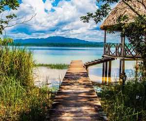 travel, beach, and guatemala image